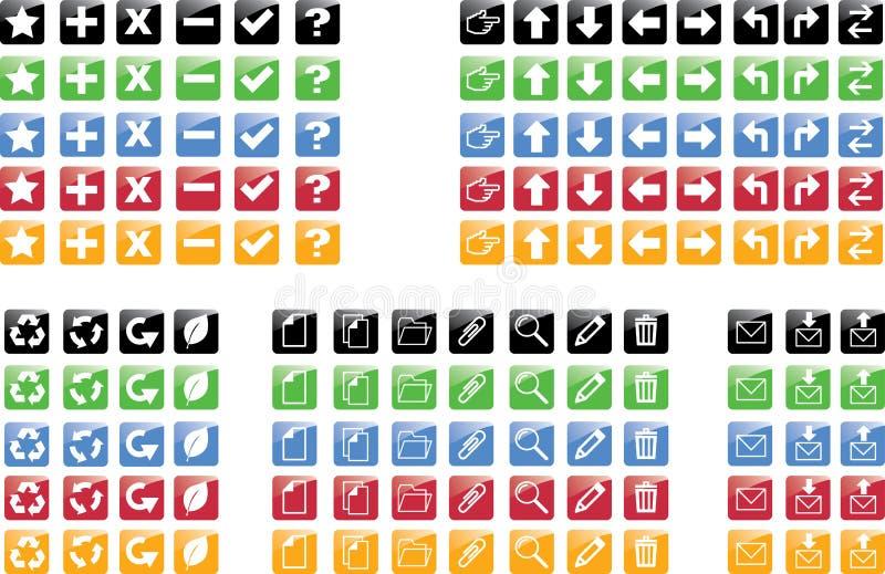 ikony ustawiać ilustracja wektor