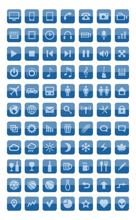 Ikony ustawiać i piktogramy ilustracji