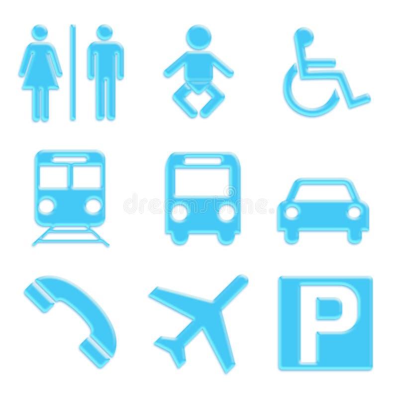 ikony ustawiają podróż ilustracji
