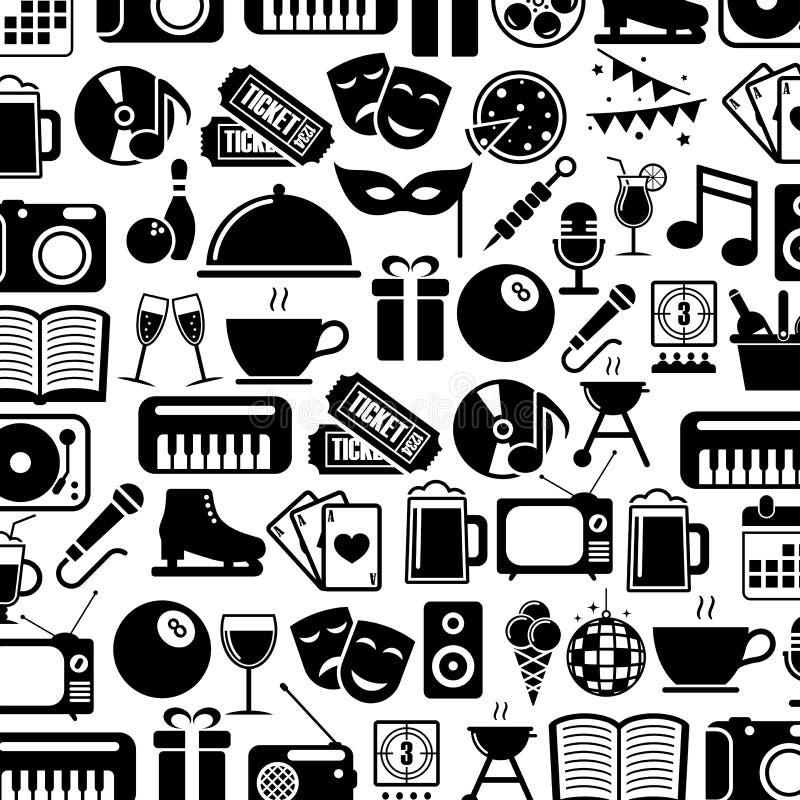 Download Ikony ustawiają rozrywkę ilustracja wektor. Ilustracja złożonej z piwo - 53781768