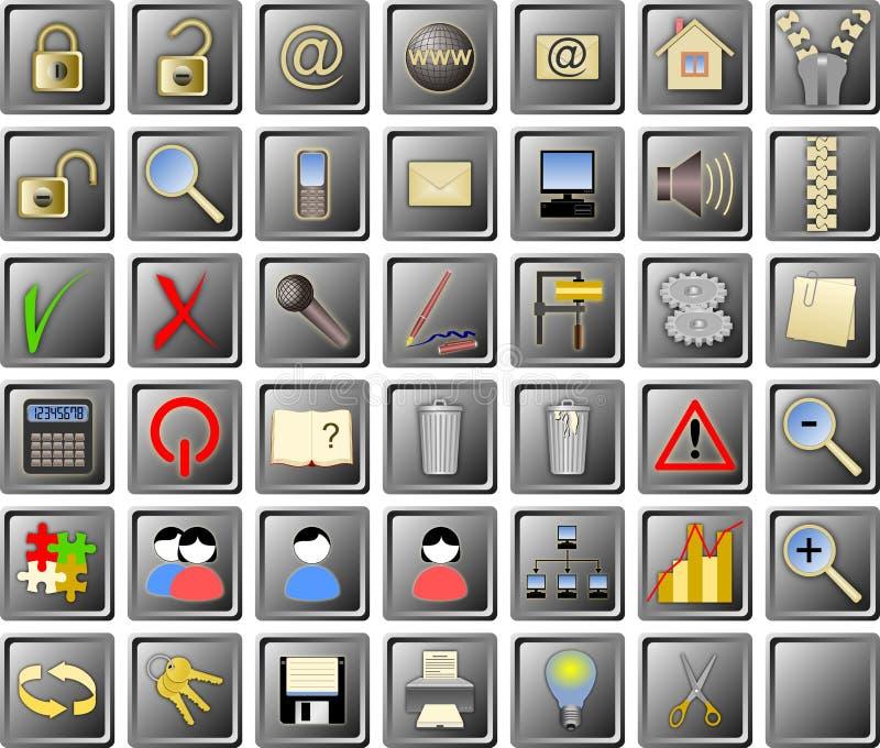 ikony ustawiają sieć ilustracji