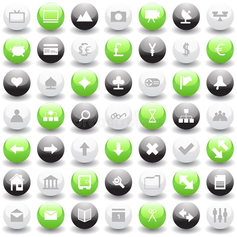 ikony ustawiają sieć royalty ilustracja
