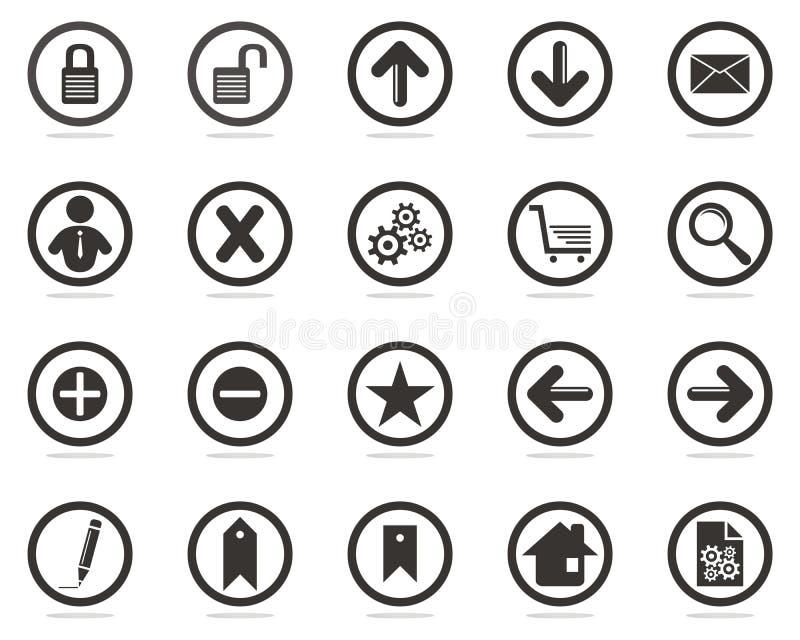 ikony ustawiają sieć ilustracja wektor