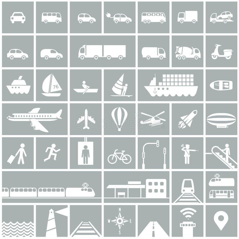 ikony ustawiają transport royalty ilustracja
