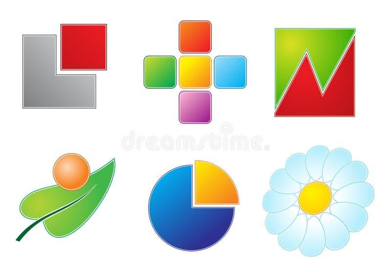 ikony ustawiają wektor sześć ilustracja wektor