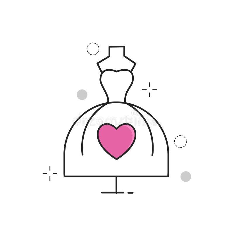 ikony ustawiający ślub ilustracja wektor