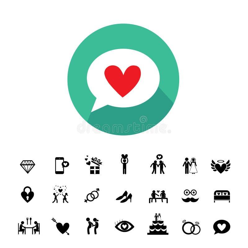 ikony ustawiający ślub ilustracji