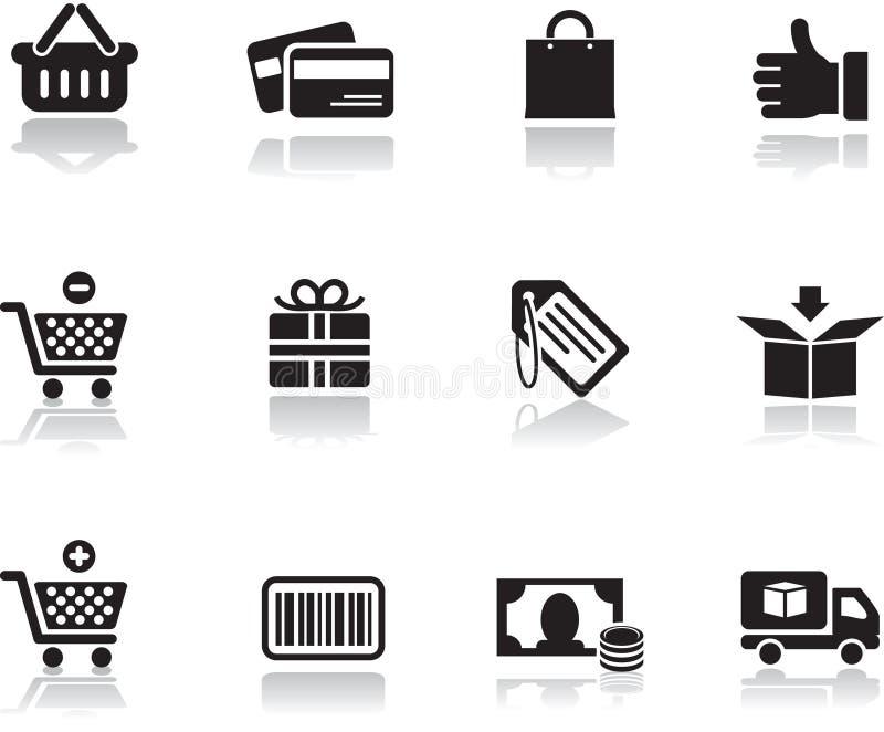 ikony ustawiający zakupy zdjęcia royalty free