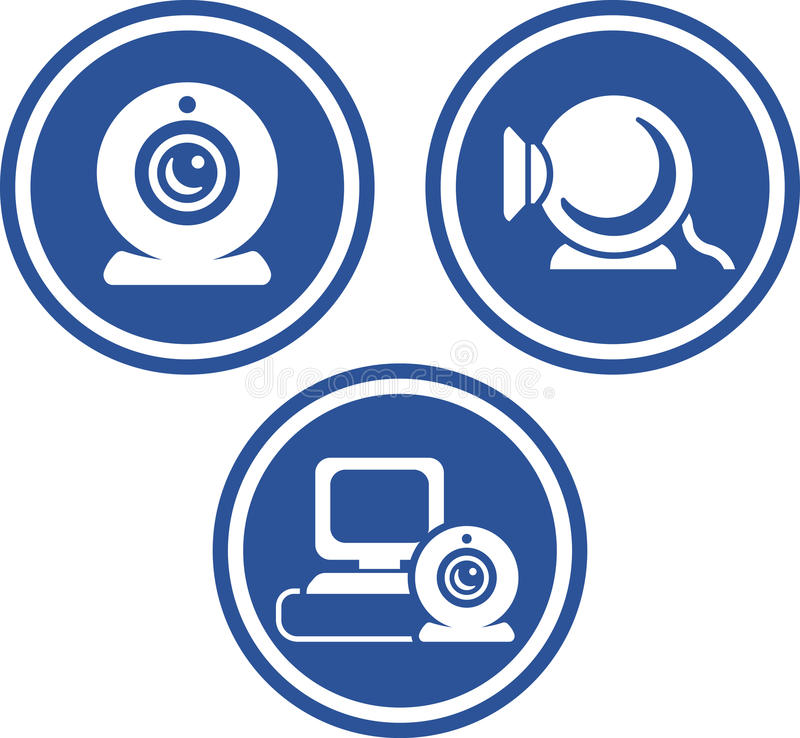 ikony vector kamery internetowe royalty ilustracja