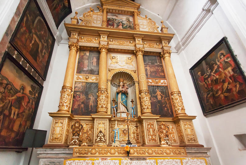 Ikony wśrodku dziejowego Se Katedralny De Santa Catarina budowali w 1640 obrazy royalty free