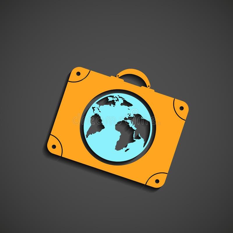 Ikony walizka dla podróży ilustracja wektor