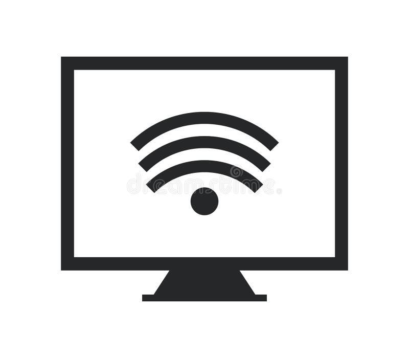 Ikony wifi komputer osobisty royalty ilustracja