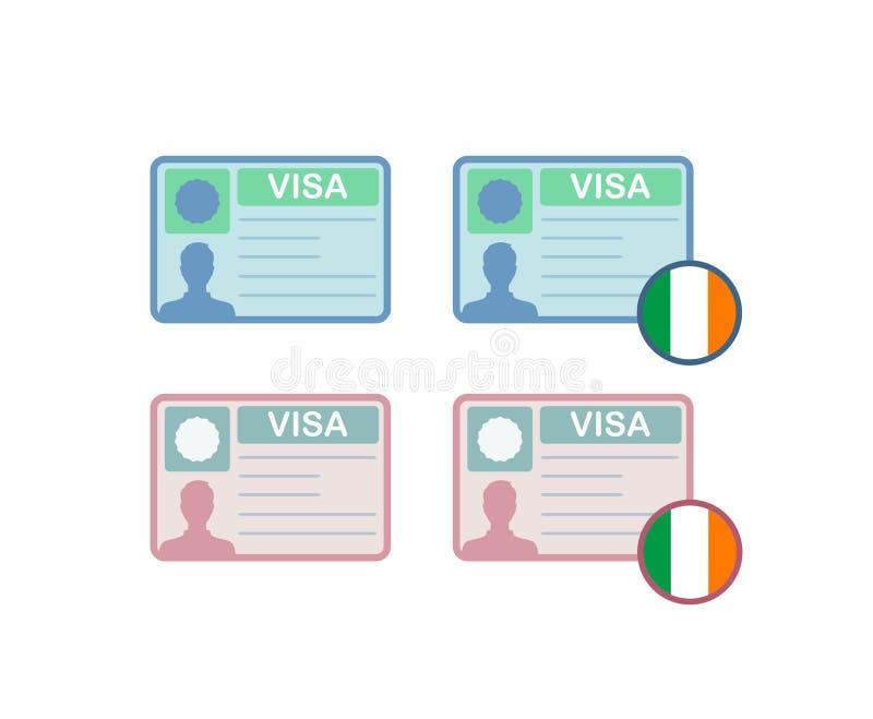 Ikony wiza Irlandia royalty ilustracja