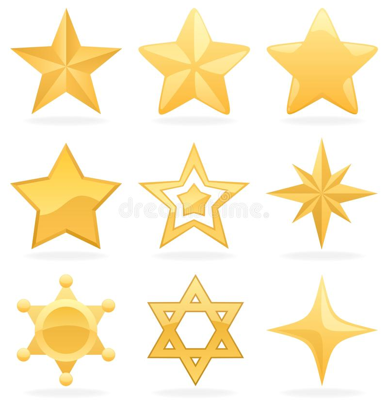 ikony złota gwiazda ilustracja wektor
