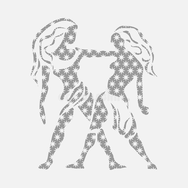 Ikony zodiak, Wektorowa ikona astrologiczni znaków ilustracji