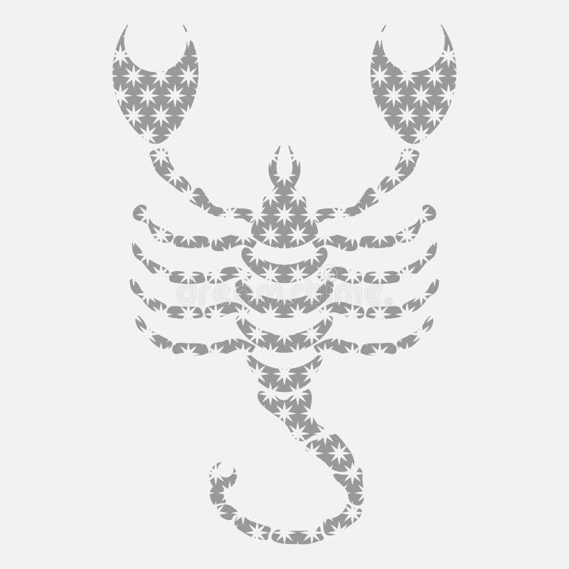 Ikony zodiak, Wektorowa ikona astrologiczni znaków royalty ilustracja