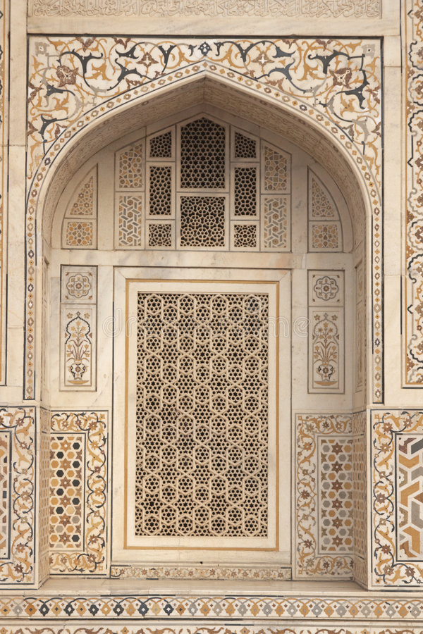 ikrustowany islamski marmurowy grobowiec obrazy stock