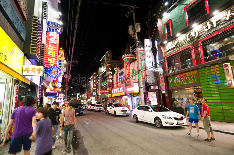 Download Iksan (South Korea) At Night Editorial Photography - Image of club, district: 15394127