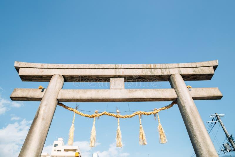 Ikukunitama Shrine Torii gate in Osaka, Japan. Asia royalty free stock photo