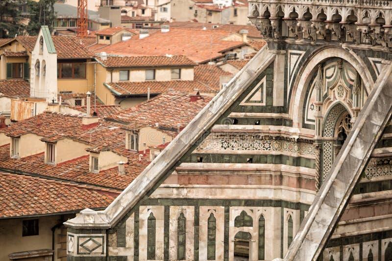 Il中央寺院细节,佛罗伦萨 库存照片