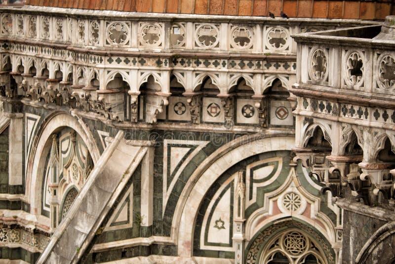 Il中央寺院细节,佛罗伦萨 免版税库存图片