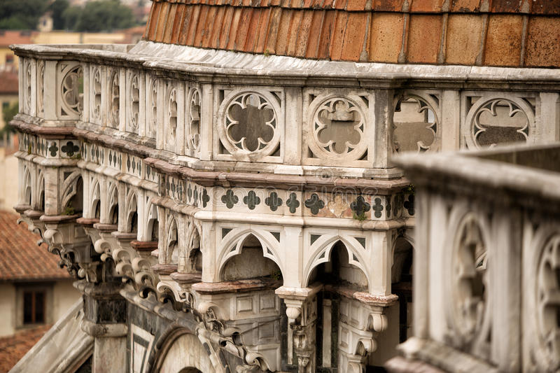 Il中央寺院细节,佛罗伦萨 免版税库存照片