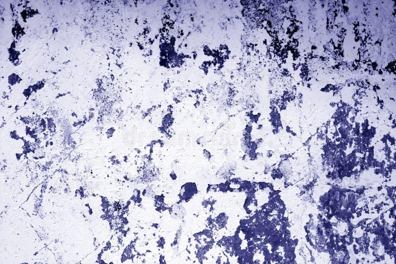 Il ¡ di Ð ha rastrellato la struttura stagionata della parete del cemento nel tono blu fotografia stock libera da diritti