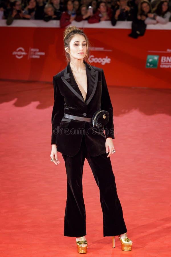 Il ` Amico di silvia D cammina sul dodicesimo Fest del film di Roma del tappeto rosso immagine stock libera da diritti