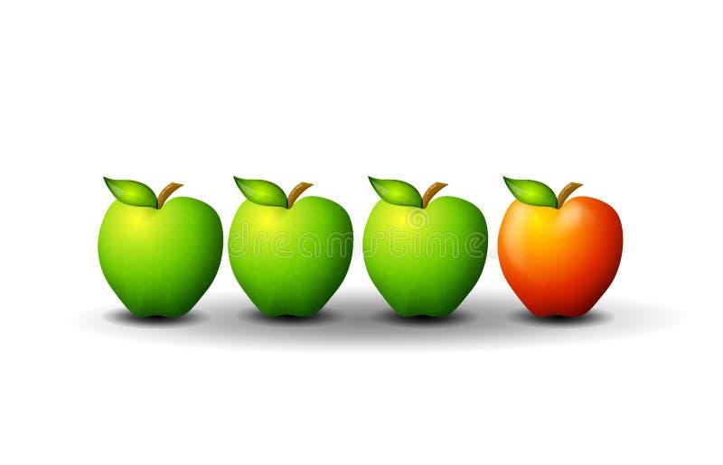 Il Apple non conforme illustrazione vettoriale
