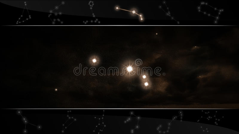 Il Aries del segno della stella della ram illustrazione vettoriale