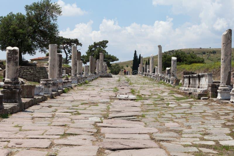 Il Asklepion in città romana Pergamum. fotografia stock libera da diritti