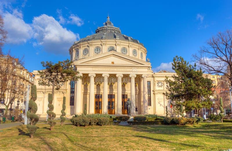 Il Athenaeum rumeno, Bucarest, Romania fotografia stock libera da diritti