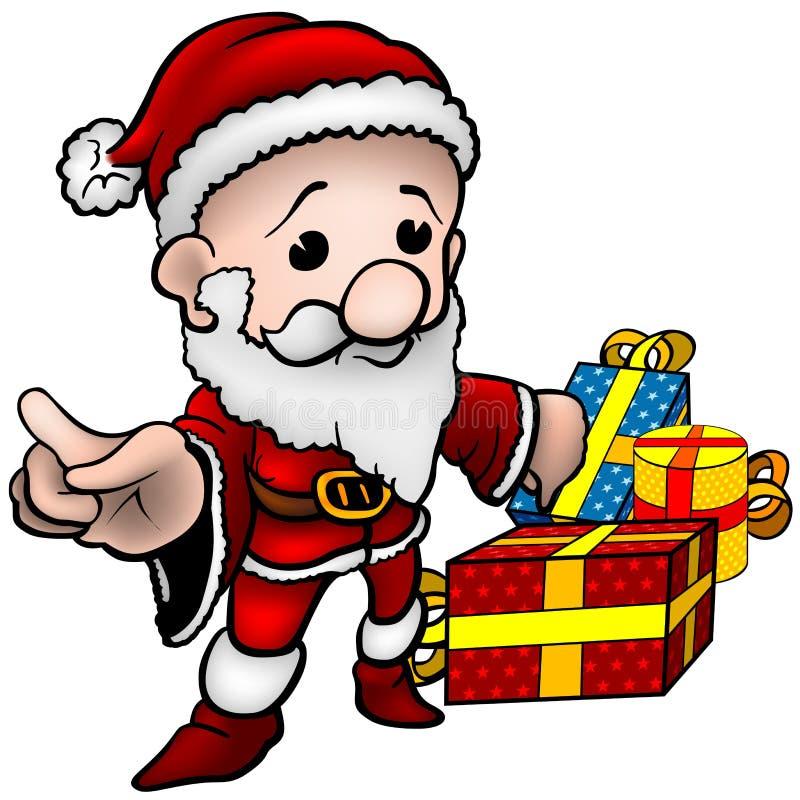 Il Babbo Natale 02 royalty illustrazione gratis