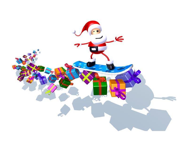 Il Babbo Natale illustrazione vettoriale