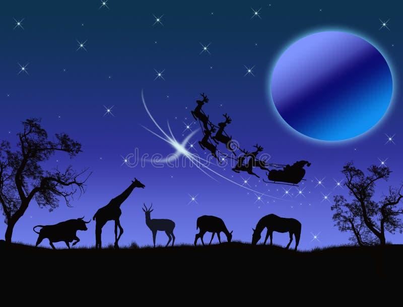 Il Babbo Natale in Africa illustrazione di stock
