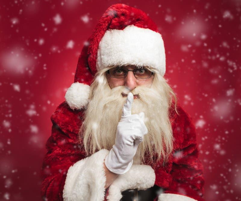 Il Babbo Natale che fa il gesto calmo immagine stock libera da diritti
