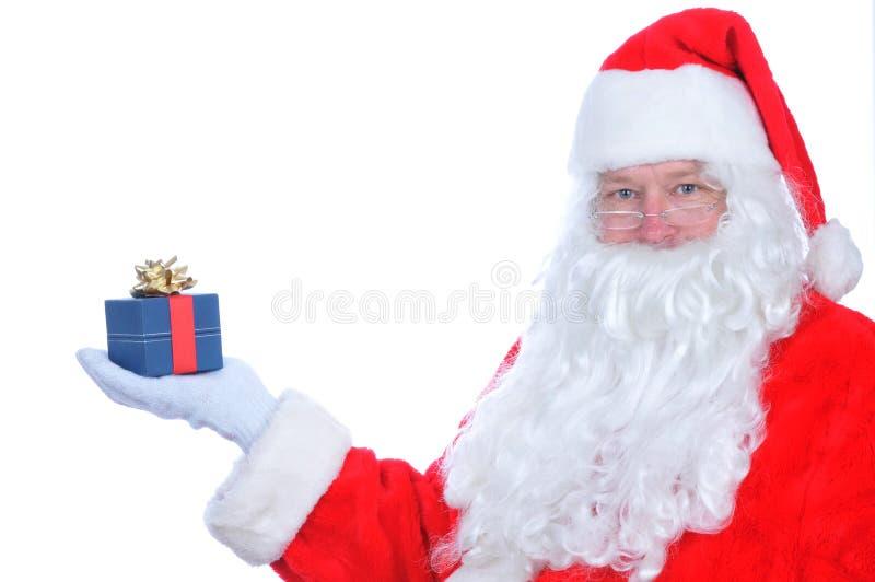 Il Babbo Natale con il presente immagini stock libere da diritti