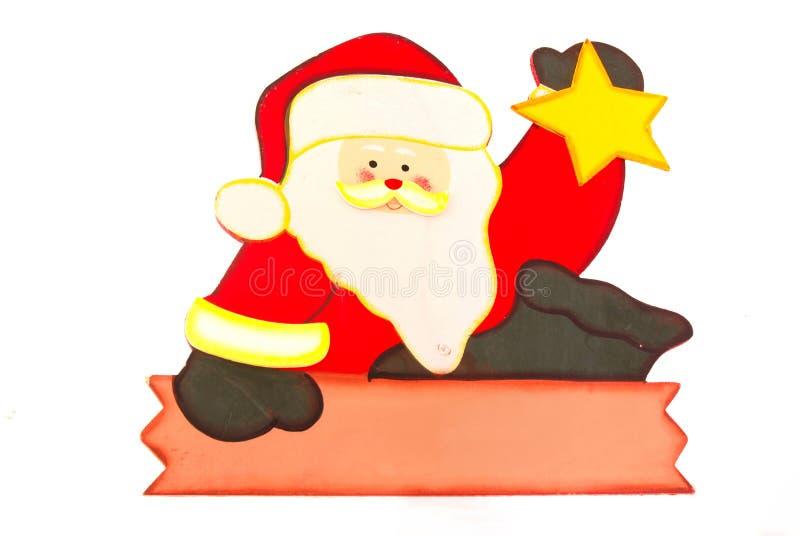 Il Babbo Natale con il segno in bianco immagine stock libera da diritti