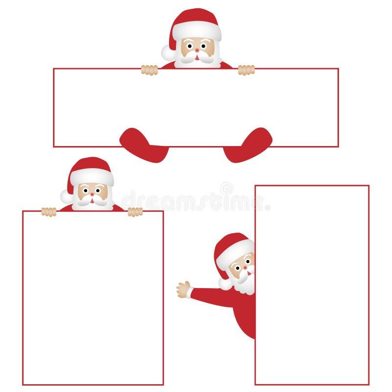 Il Babbo Natale con le bandiere illustrazione vettoriale