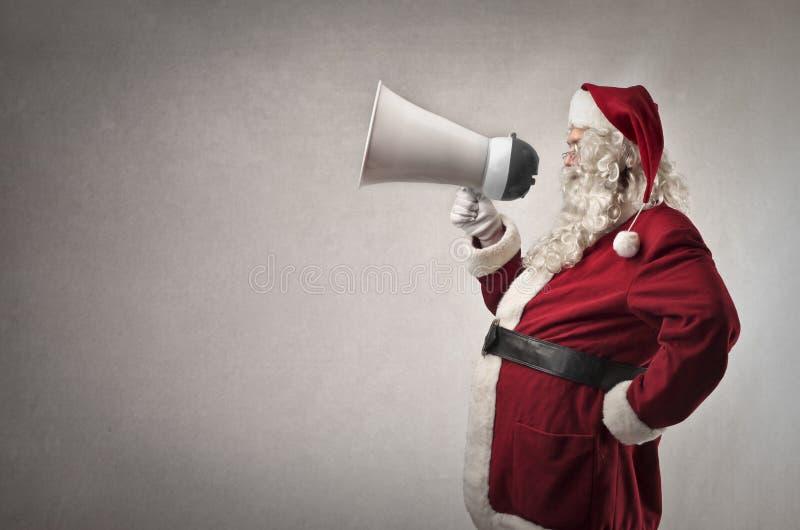 Il Babbo Natale con un messaggio fotografie stock