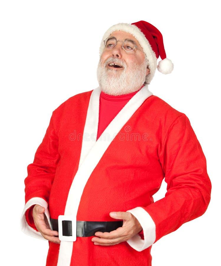 Il Babbo Natale con una risata immagini stock