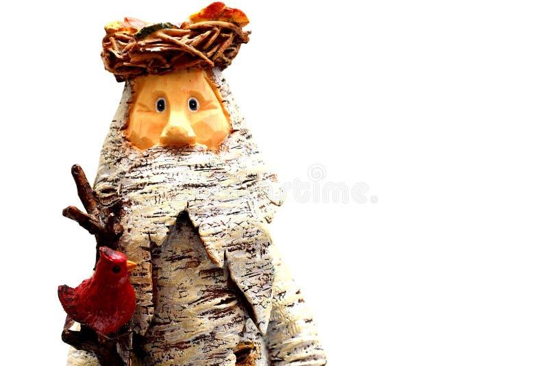 Download Il Babbo Natale di legno fotografia stock. Immagine di bianco - 7304684