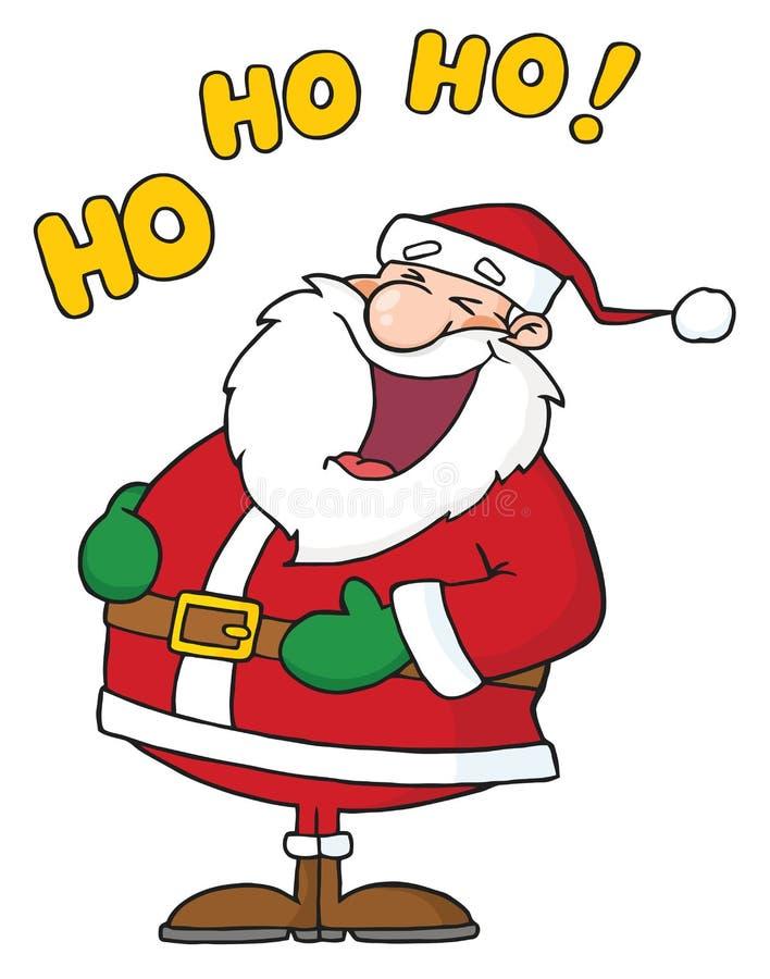 Il Babbo Natale di risata illustrazione di stock