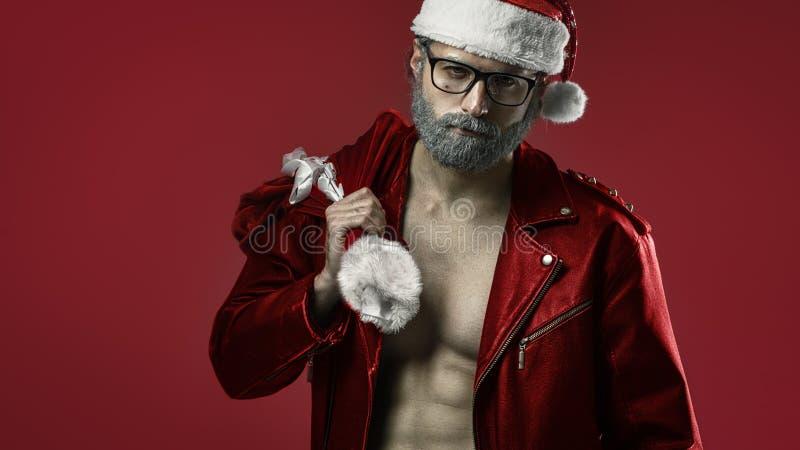 Il Babbo Natale duro immagini stock libere da diritti
