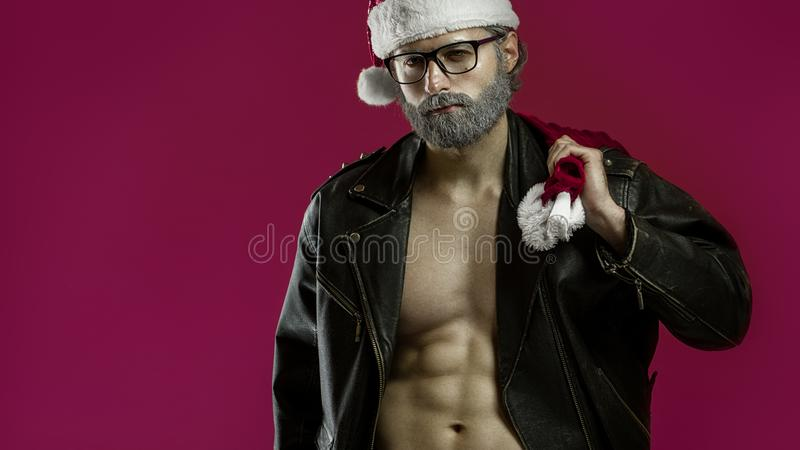 Il Babbo Natale duro fotografia stock
