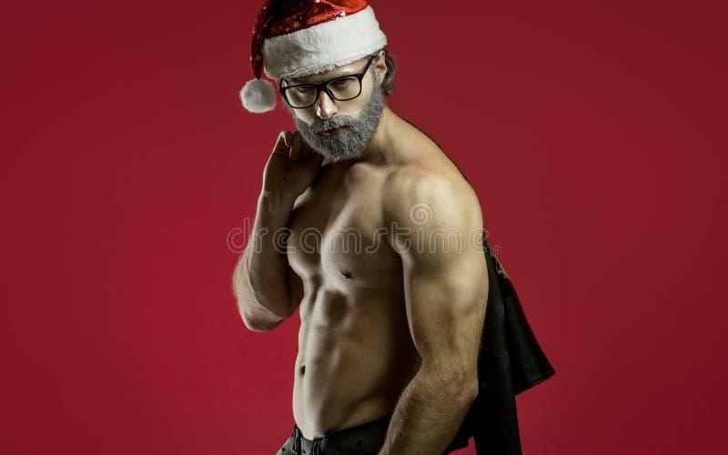 Il Babbo Natale duro fotografie stock