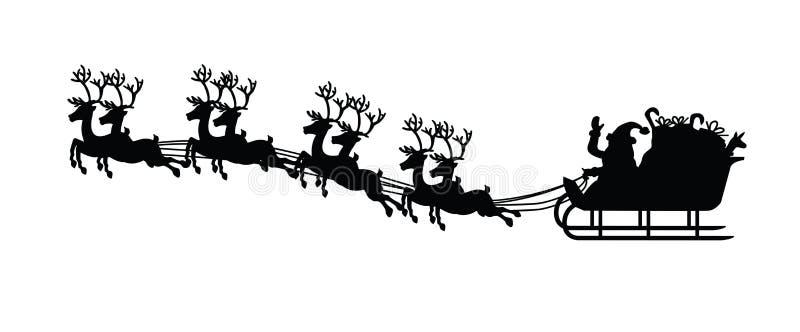 Il Babbo Natale e la sua slitta illustrazione di stock
