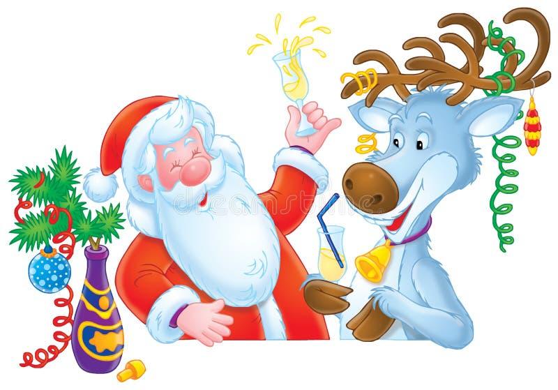 Il Babbo Natale e renna royalty illustrazione gratis