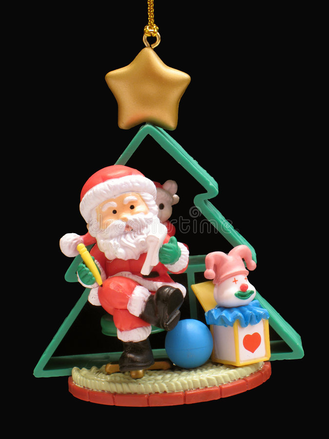 Il Babbo Natale ed albero fotografia stock libera da diritti