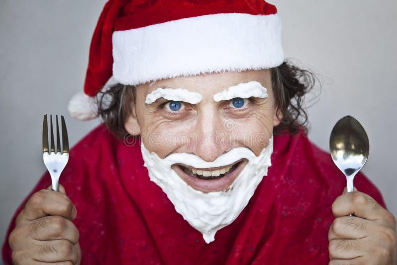 Il Babbo Natale molto cattivo fotografie stock